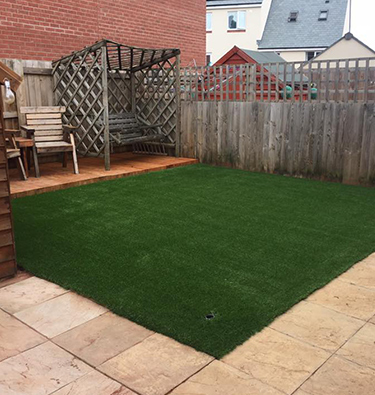 Artificial grass area fit for a modern home