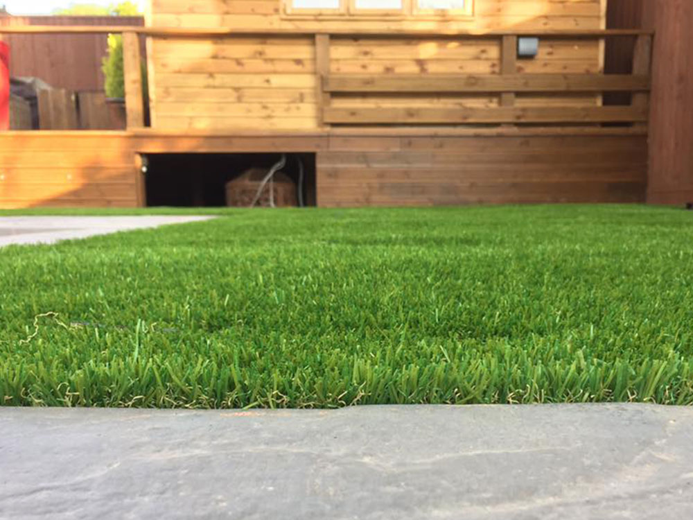 The 35mm artificial grassed used as part of a garden transformation in Sidmouth