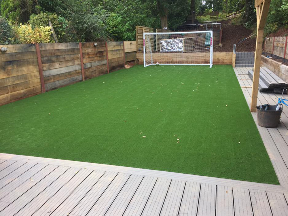 Final turf in place, ready for the kids to play on