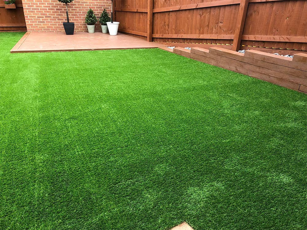 Artificial lawn for a new build home in Cranbrook by Alpyne Grass