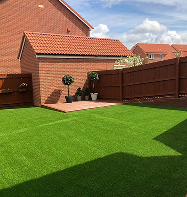Artificial lawn for a Cranbrook new build