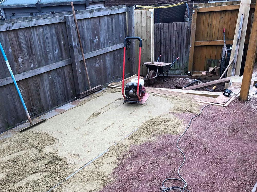 Prepping the ground to transform a back garden space
