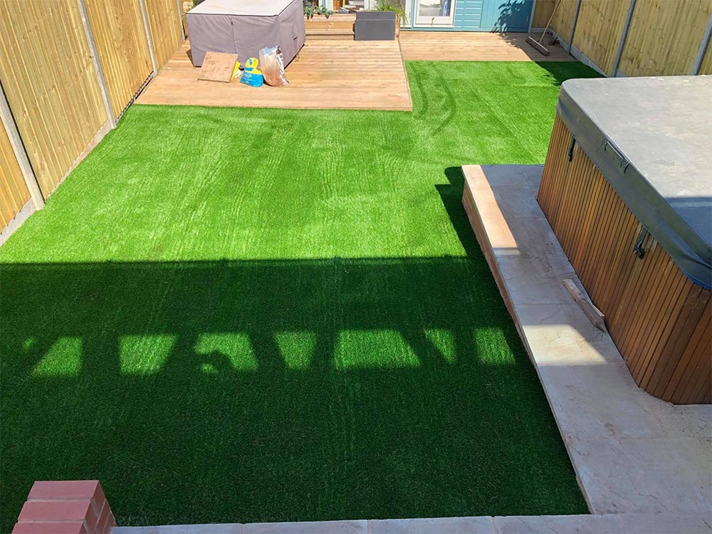 Artificial lawn for garden Exmouth