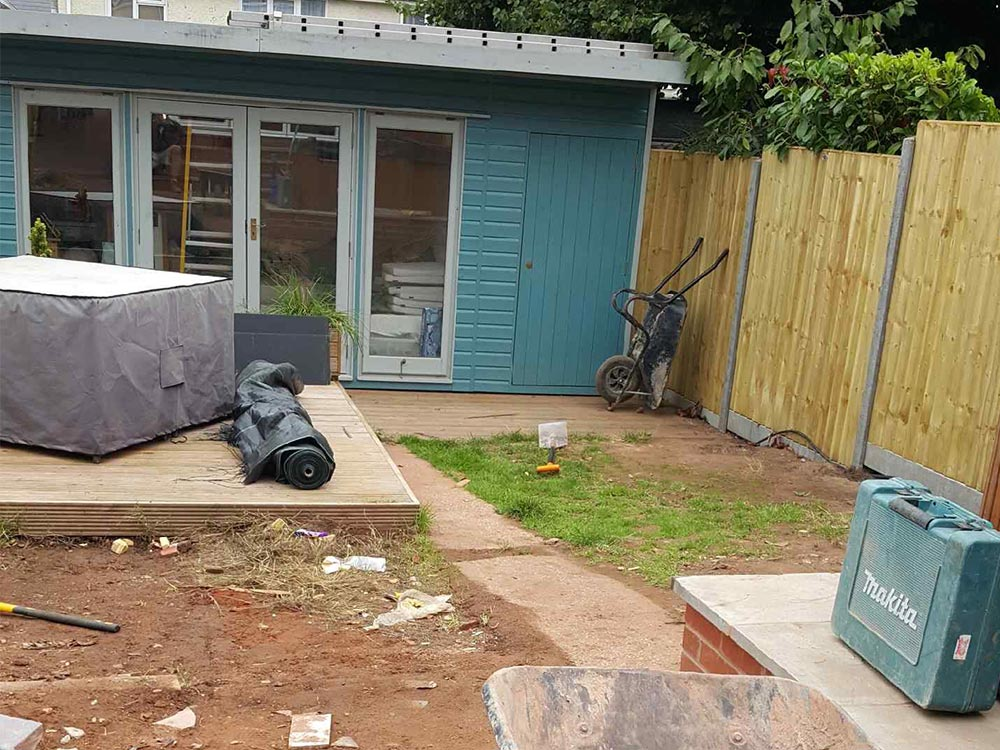 Starting work on a garden in Exmouth